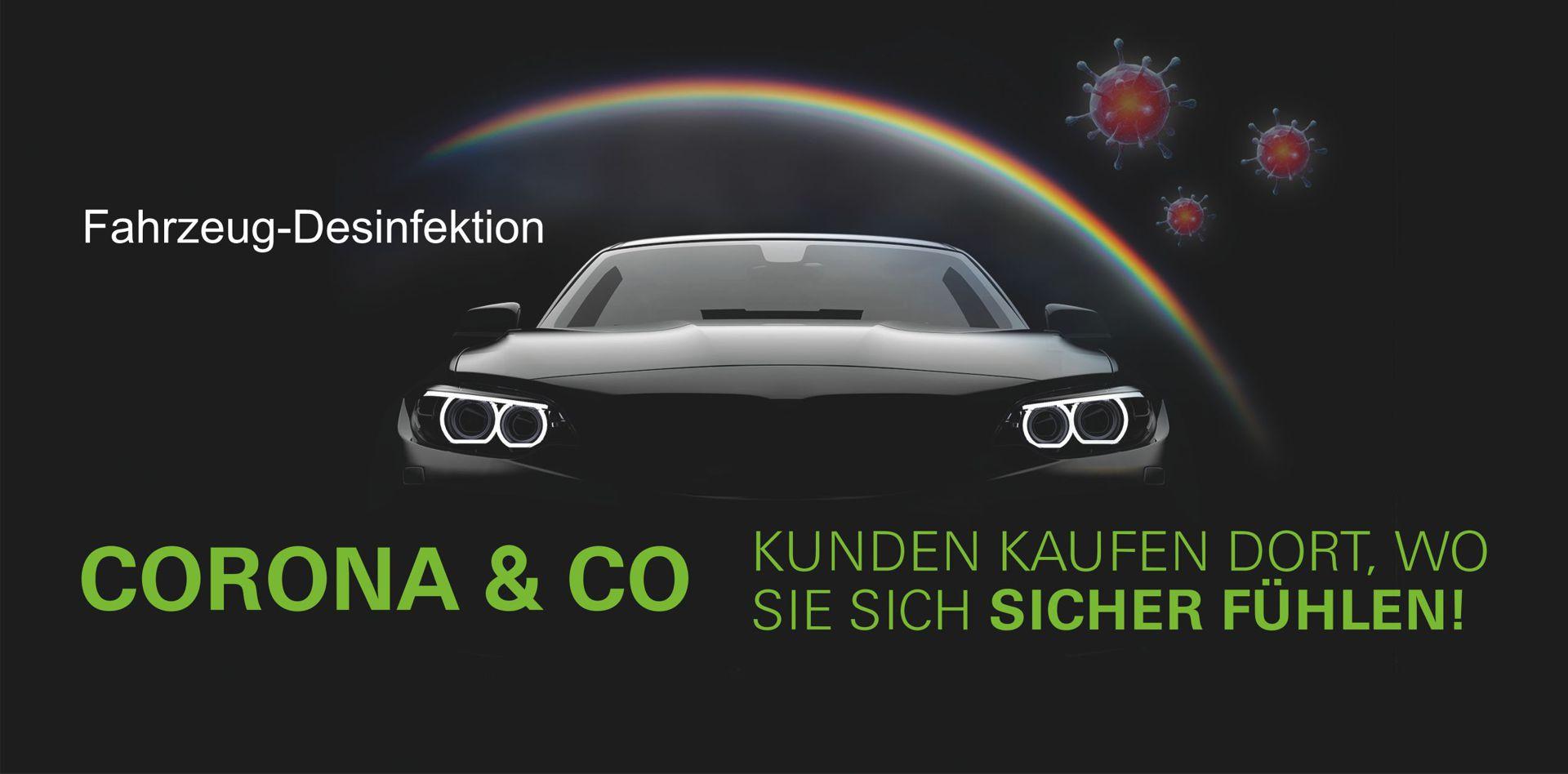 Auto wird durch Fahrzeug-Desinfektion gegen Viren, Bakterien und Pilzen geschützt.